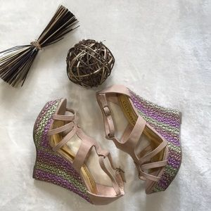 Liliana NWT braided wedges